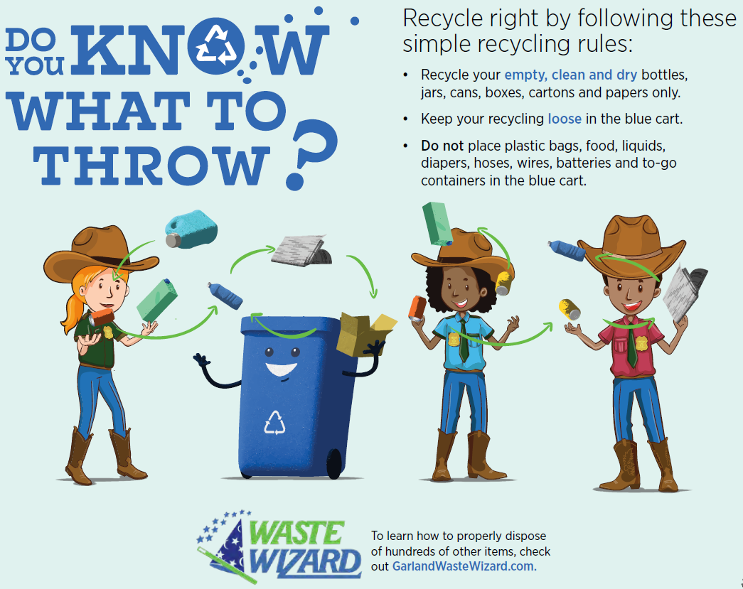 Do you know what to throw? Recycle right by following these simple rules.