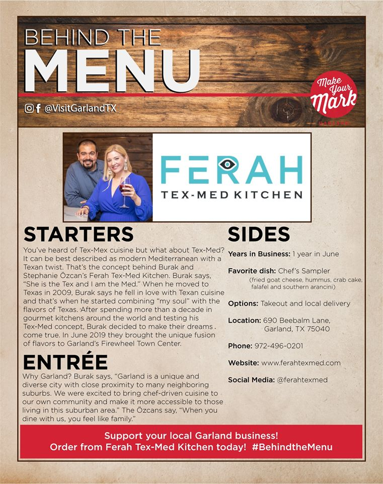 Behind the Menu - Ferah TexMed feature