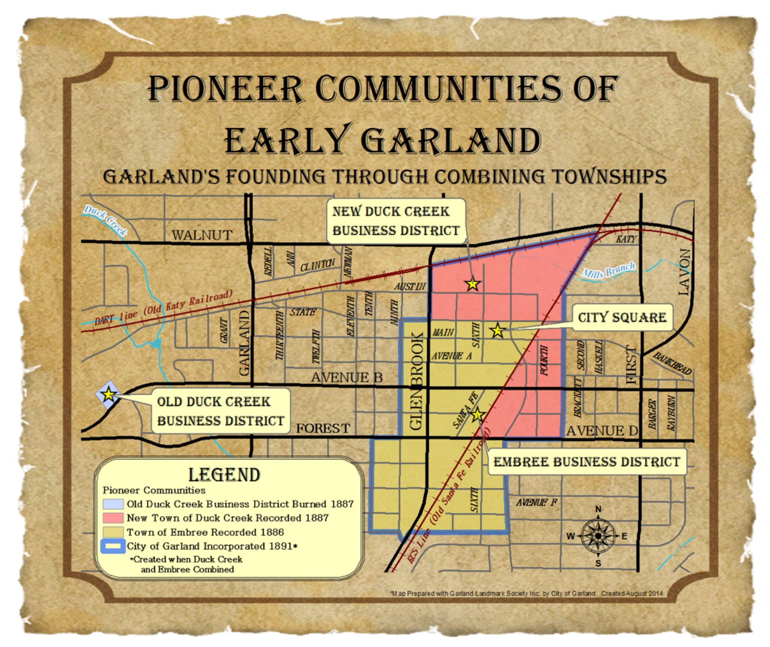 Early Settlement map